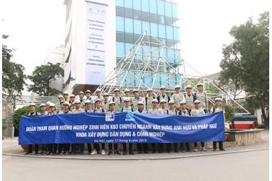 Tập đoàn Xây dựng Hòa Bình tổ chức tham quan thực tế công trình cho sinh viên Đại học Xây dựng