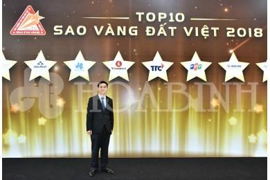 Tập đoàn Xây dựng Hòa Bình được chọn Top 10 Sao Vàng Đất Việt 2018