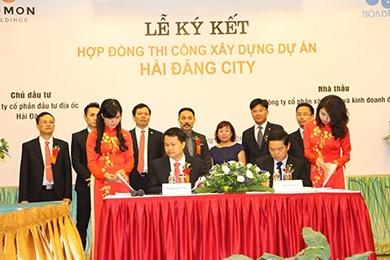 HBC ký kết hợp đồng thi công xây dựng dự án Hải Đăng City