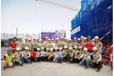 Hòa Bình đạt hơn 3 triệu giờ lao động an toàn tại tòa nhà cao nhất Đà Nẵng