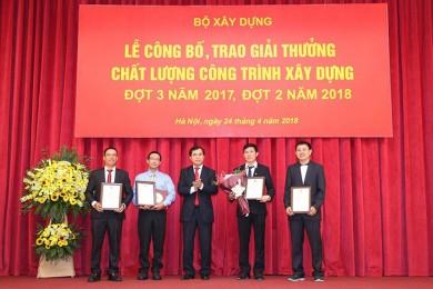 5 công trình của Hòa Bình nhận Giải thưởng Công trình xây dựng chất lượng cao