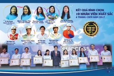 Khen thưởng nhân  viên xuất sắc 6 tháng cuối năm 2017